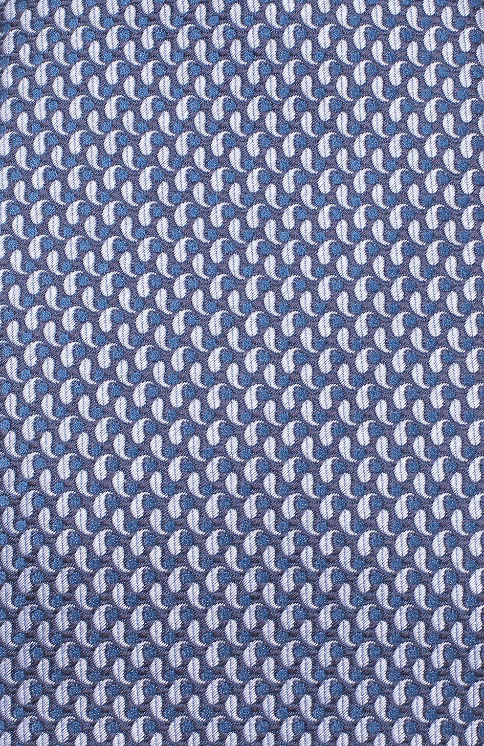 Мужской шелковый галстук BRIONI голубого цвета, арт. 062I00/08452 | Фото 3