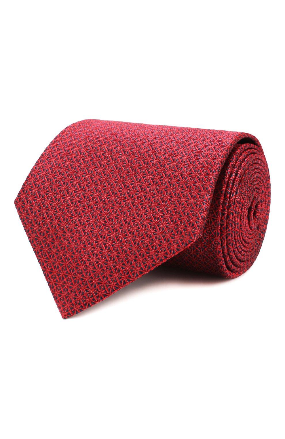 Мужской шелковый галстук BRIONI красного цвета, арт. 062I00/08447 | Фото 1