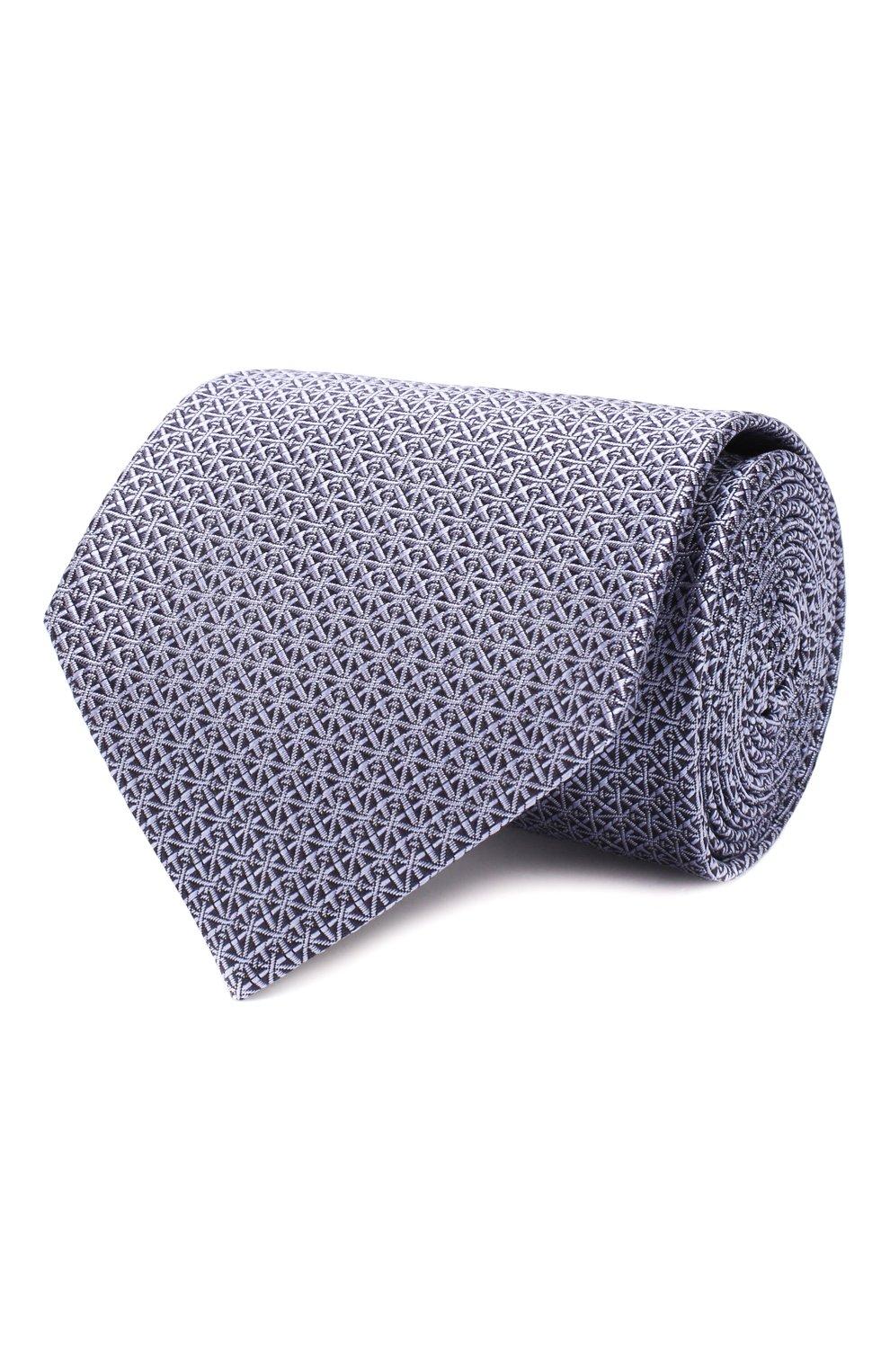 Мужской шелковый галстук BRIONI сиреневого цвета, арт. 062I00/08447 | Фото 1