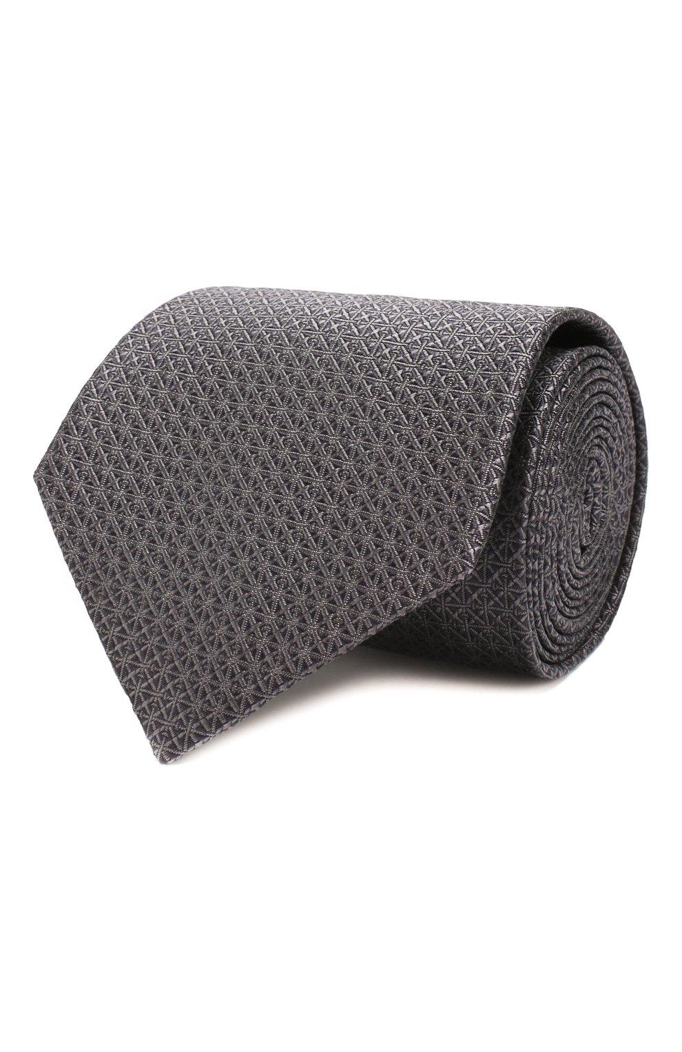 Мужской шелковый галстук BRIONI темно-серого цвета, арт. 062I00/08447 | Фото 1