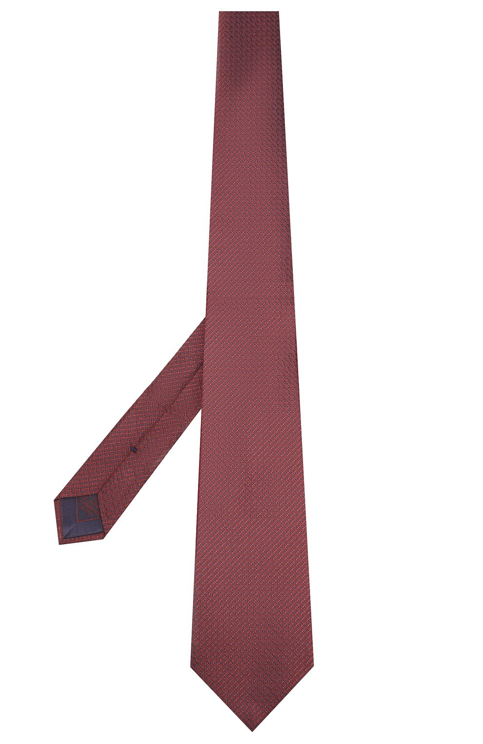 Мужской шелковый галстук BRIONI бордового цвета, арт. 062I00/08447 | Фото 2