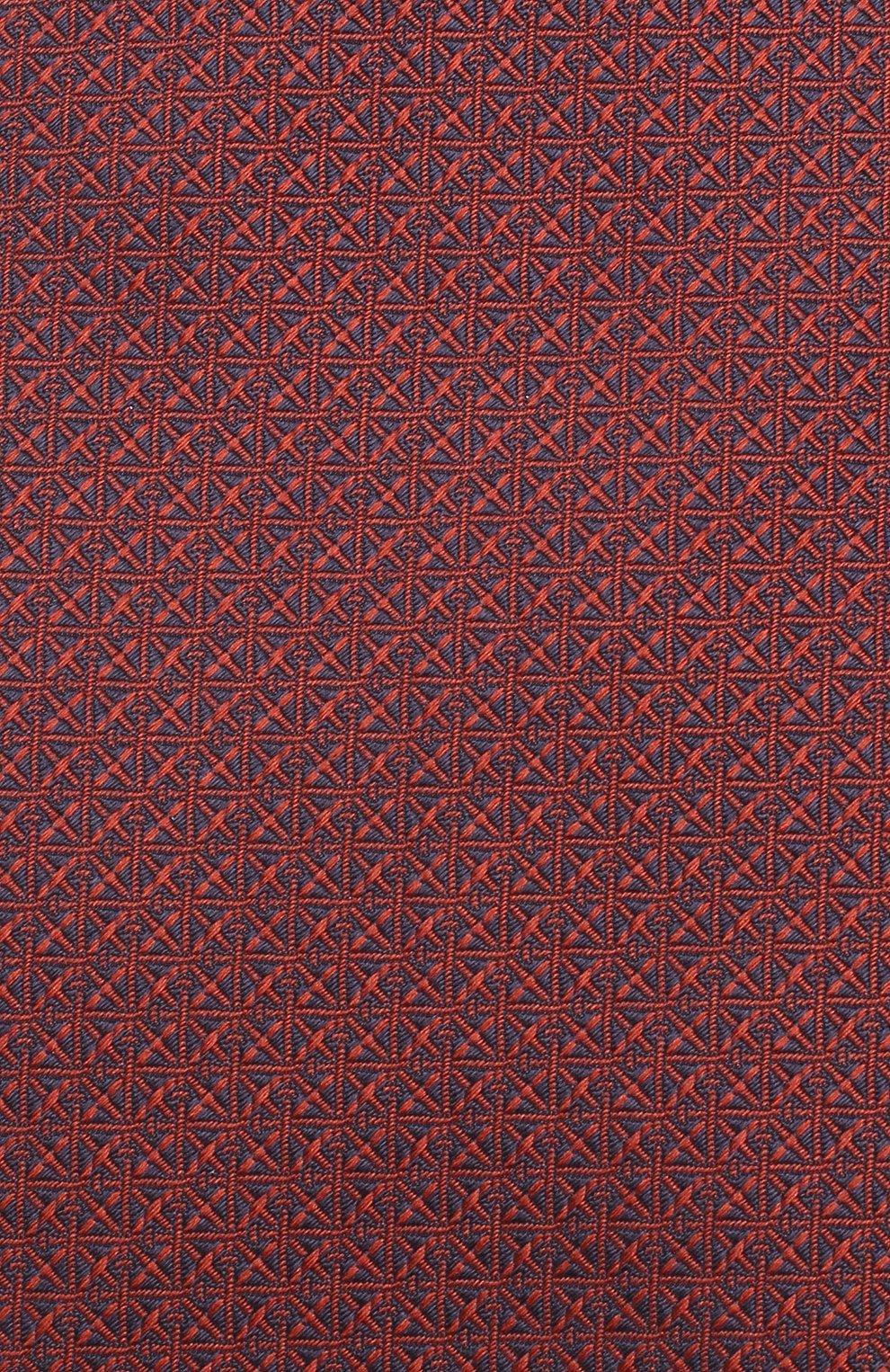 Мужской шелковый галстук BRIONI бордового цвета, арт. 062I00/08447 | Фото 3