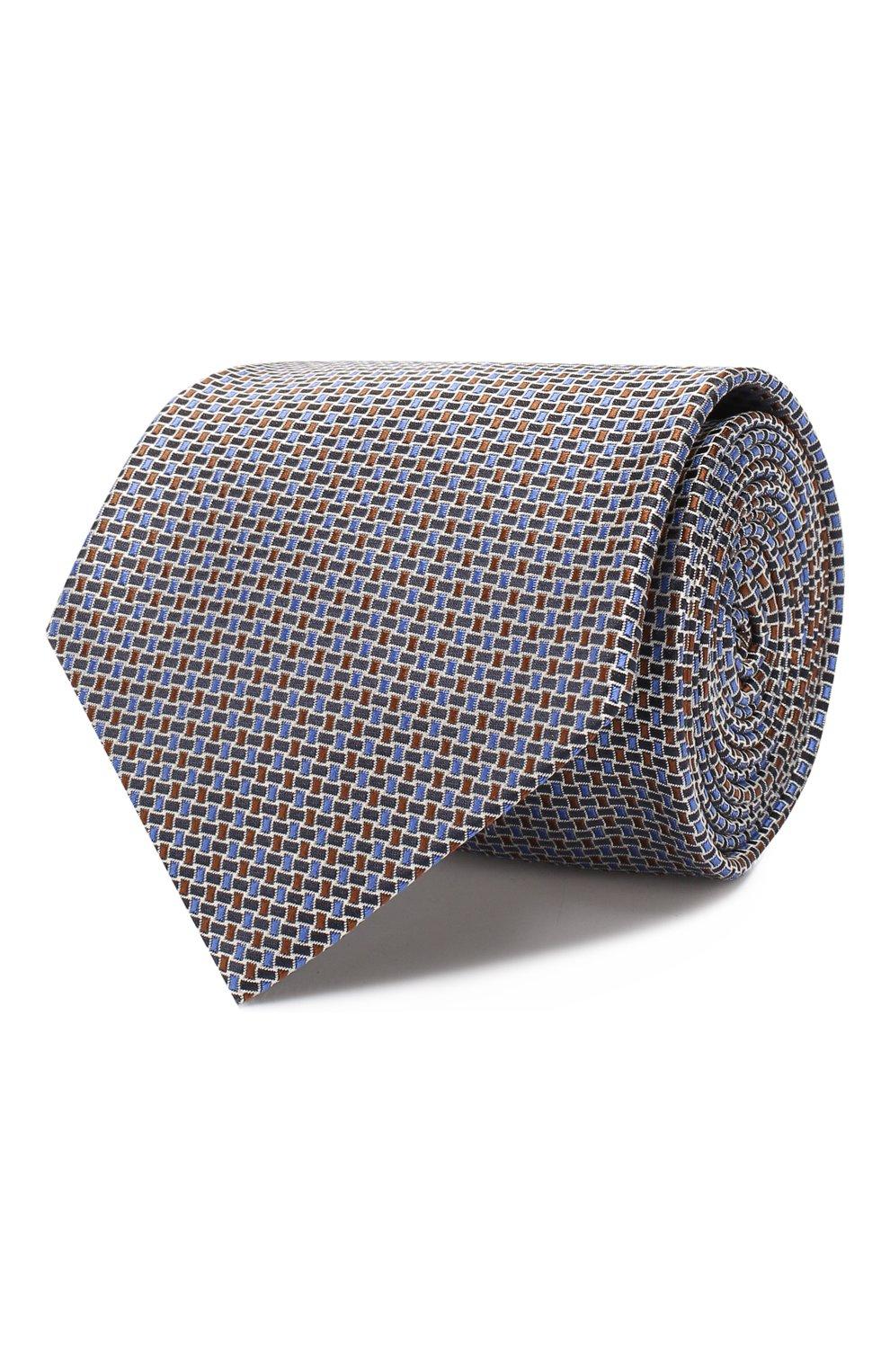 Мужской шелковый галстук BRIONI коричневого цвета, арт. 062I00/08446 | Фото 1