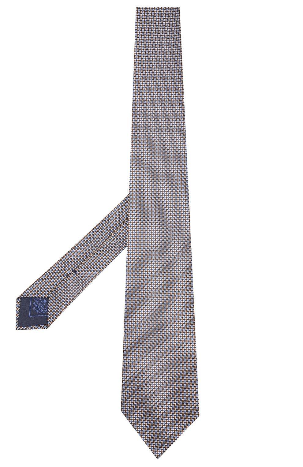 Мужской шелковый галстук BRIONI коричневого цвета, арт. 062I00/08446 | Фото 2