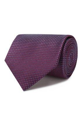 Мужской шелковый галстук BRIONI фиолетового цвета, арт. 062I00/08440 | Фото 1