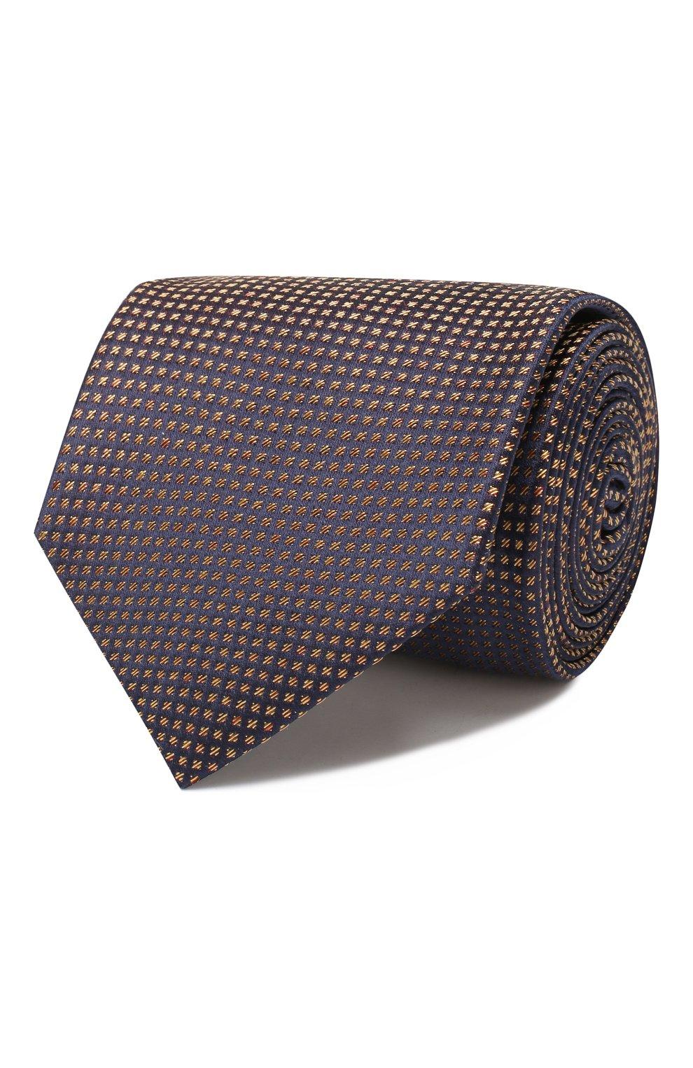 Мужской шелковый галстук BRIONI коричневого цвета, арт. 062I00/08440 | Фото 1