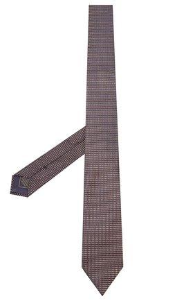Мужской шелковый галстук BRIONI коричневого цвета, арт. 062I00/08440 | Фото 2
