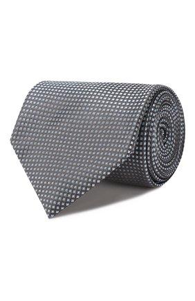 Мужской шелковый галстук BRIONI серого цвета, арт. 062I00/08440 | Фото 1
