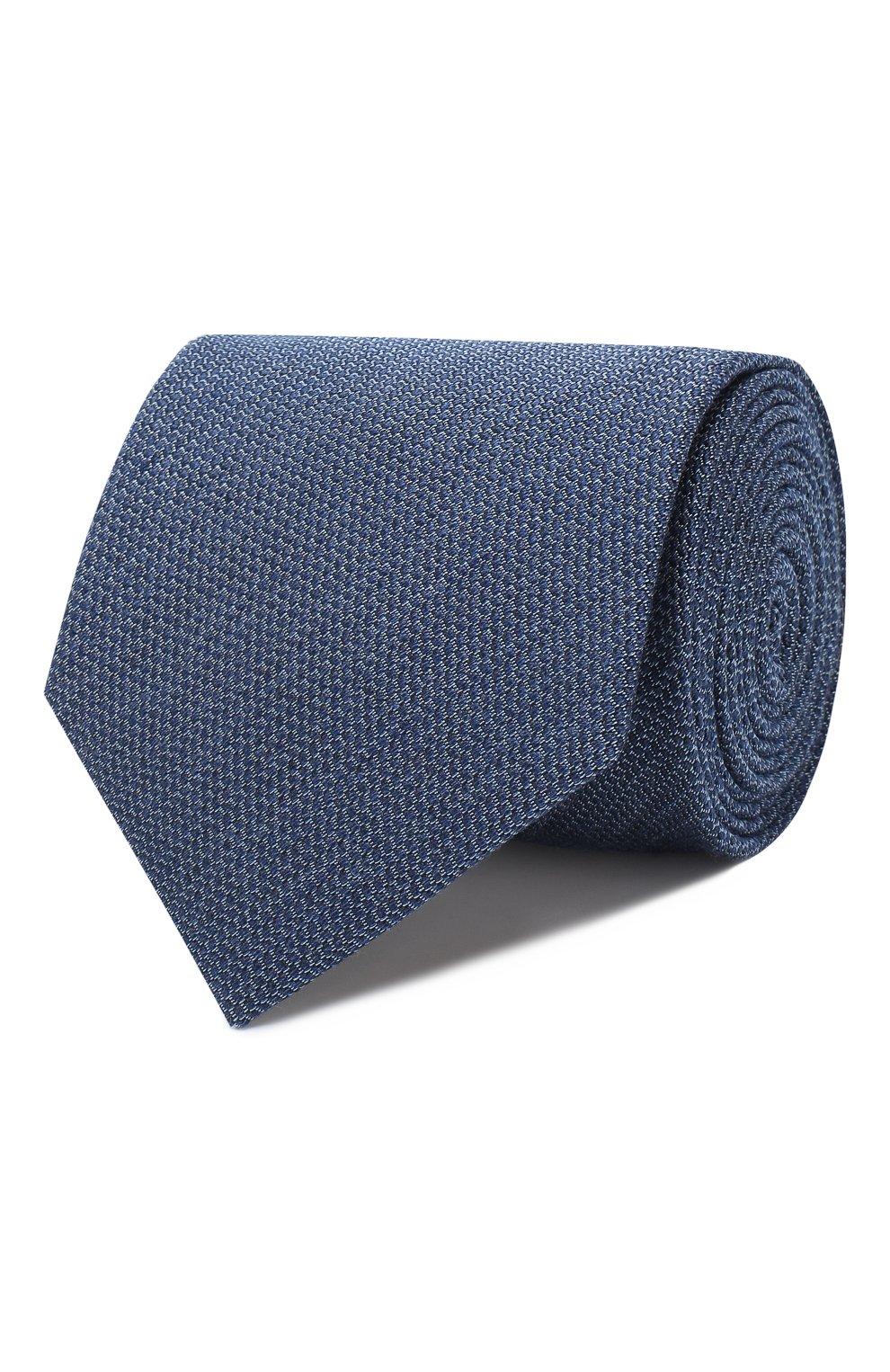 Мужской галстук из смеси шелка и шерсти BRIONI синего цвета, арт. 062I00/08438   Фото 1