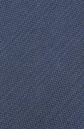 Мужской галстук из смеси шелка и шерсти BRIONI синего цвета, арт. 062I00/08438   Фото 3