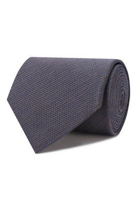 Мужской галстук из смеси шелка и шерсти BRIONI коричневого цвета, арт. 062I00/08438 | Фото 1