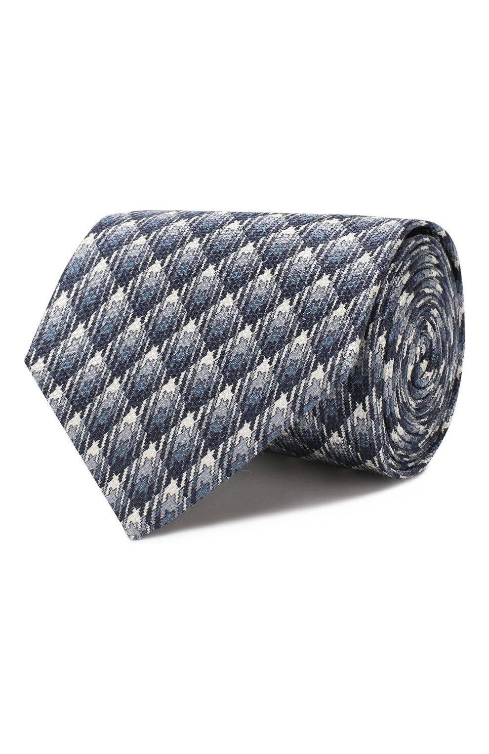Мужской шелковый галстук BRIONI синего цвета, арт. 062H00/08485 | Фото 1
