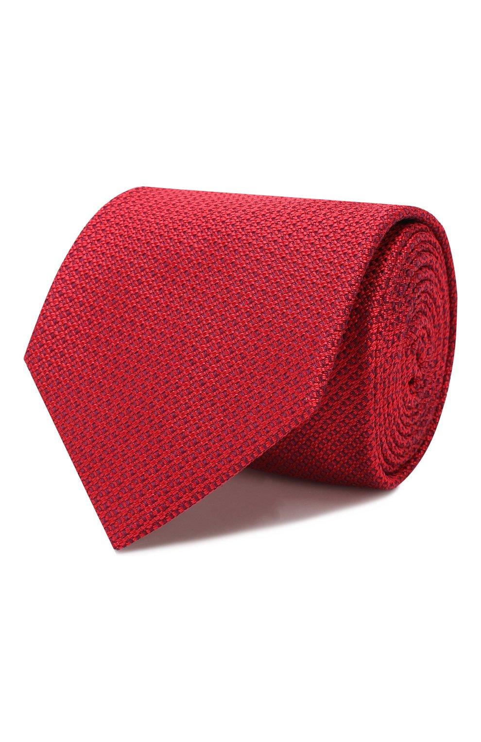 Мужской шелковый галстук BRIONI красного цвета, арт. 062H00/08437 | Фото 1