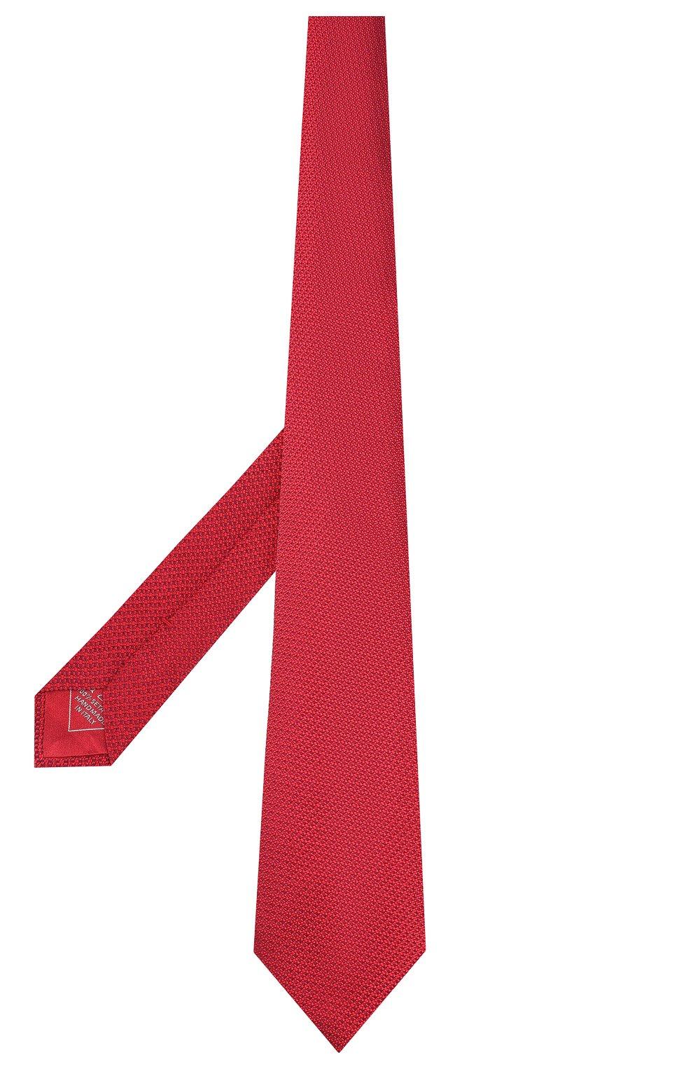 Мужской шелковый галстук BRIONI красного цвета, арт. 062H00/08437 | Фото 2