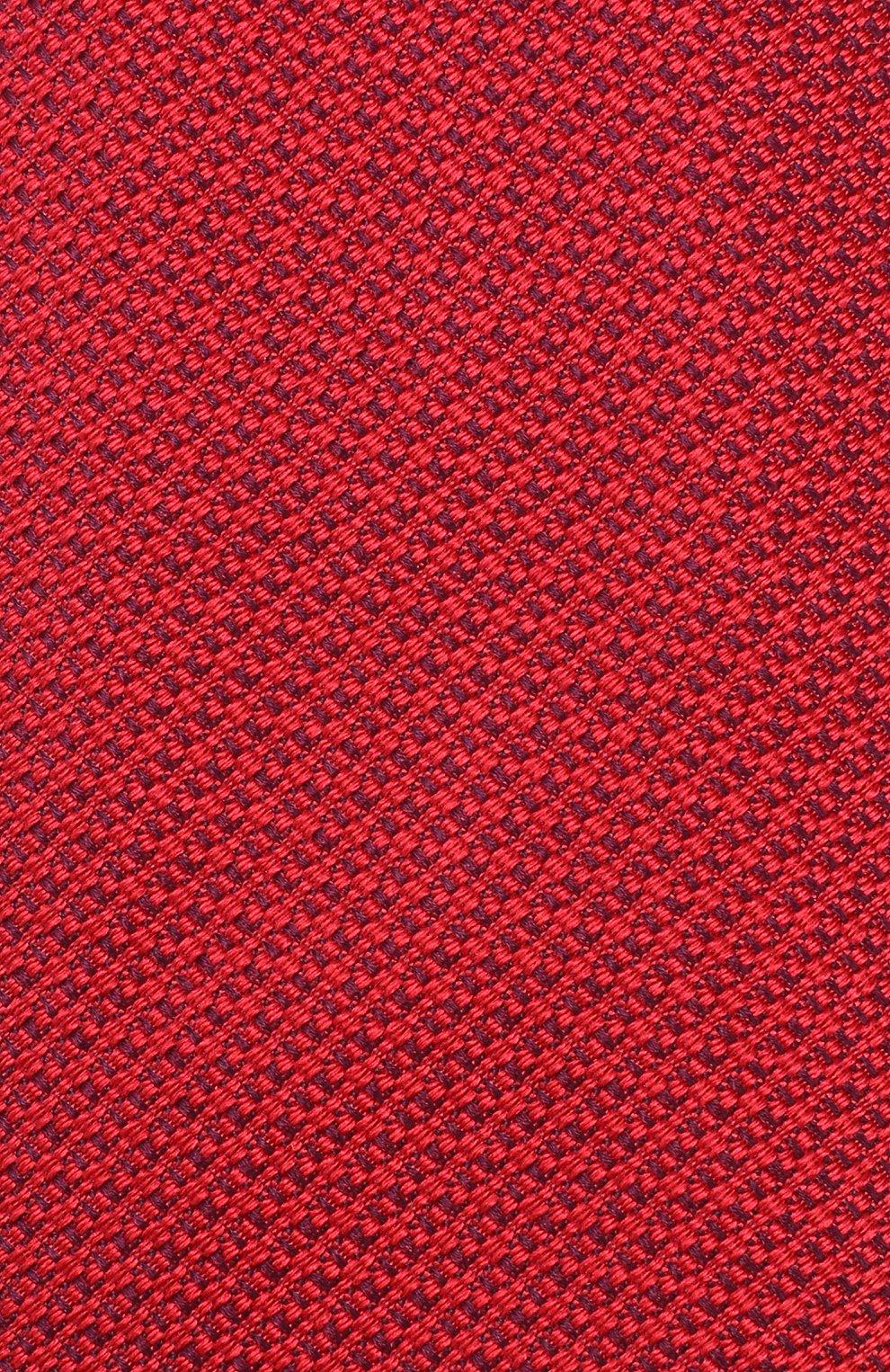 Мужской шелковый галстук BRIONI красного цвета, арт. 062H00/08437 | Фото 3