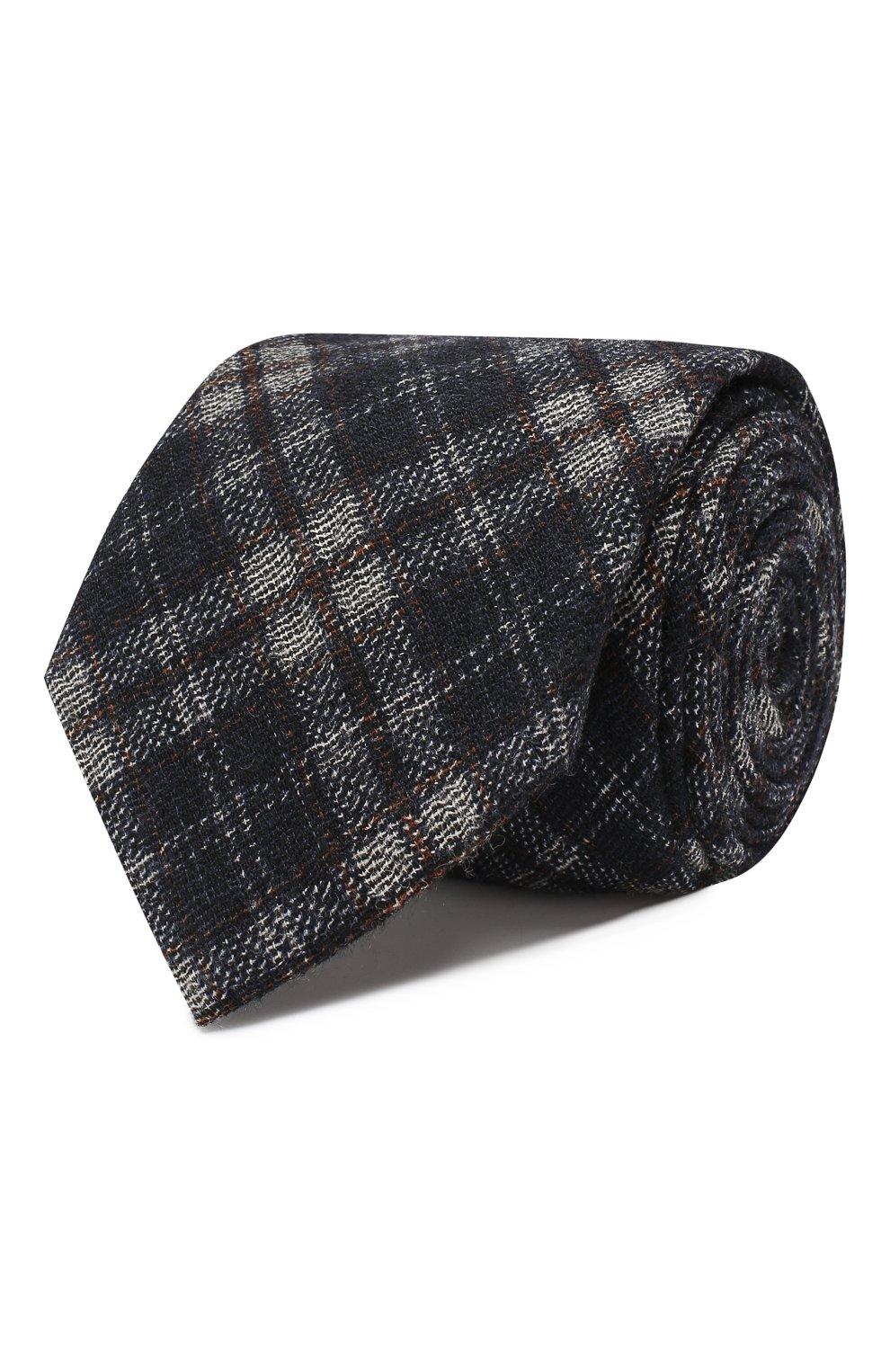 Мужской шерстяной галстук BRIONI синего цвета, арт. 061D00/08488 | Фото 1