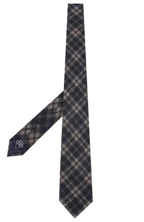 Мужской шерстяной галстук BRIONI синего цвета, арт. 061D00/08488 | Фото 2