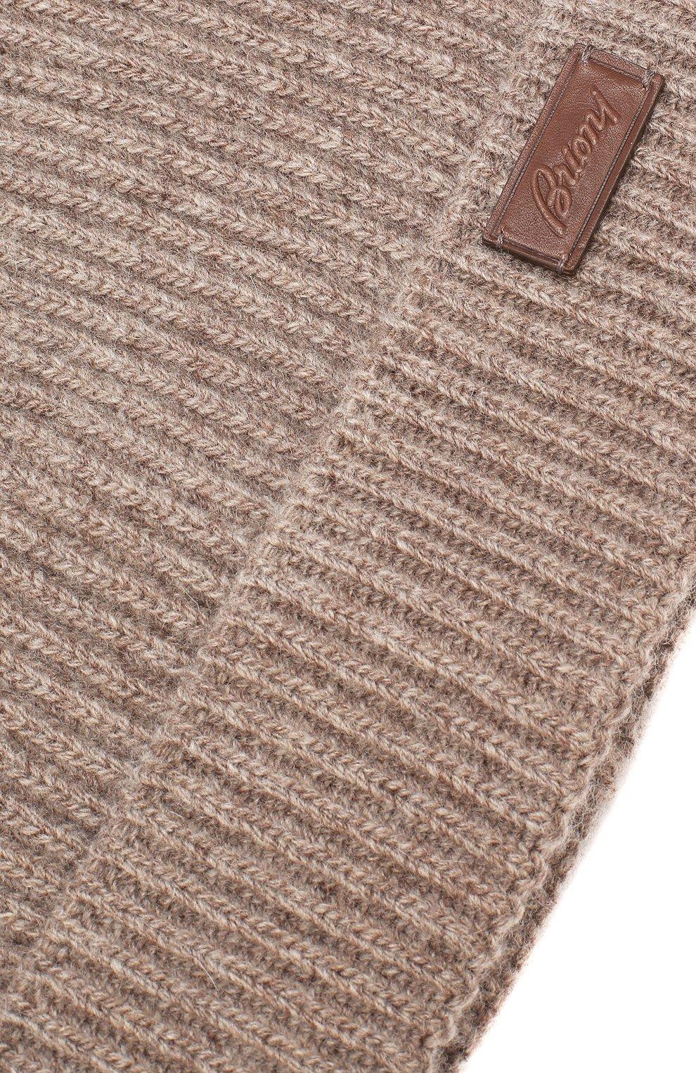 Мужская шапка из смеси шерсти и кашемира BRIONI коричневого цвета, арт. 04M40L/08K30 | Фото 3