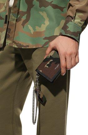 Мужской текстильное портмоне SAINT LAURENT хаки цвета, арт. 586279/GL0IE | Фото 2