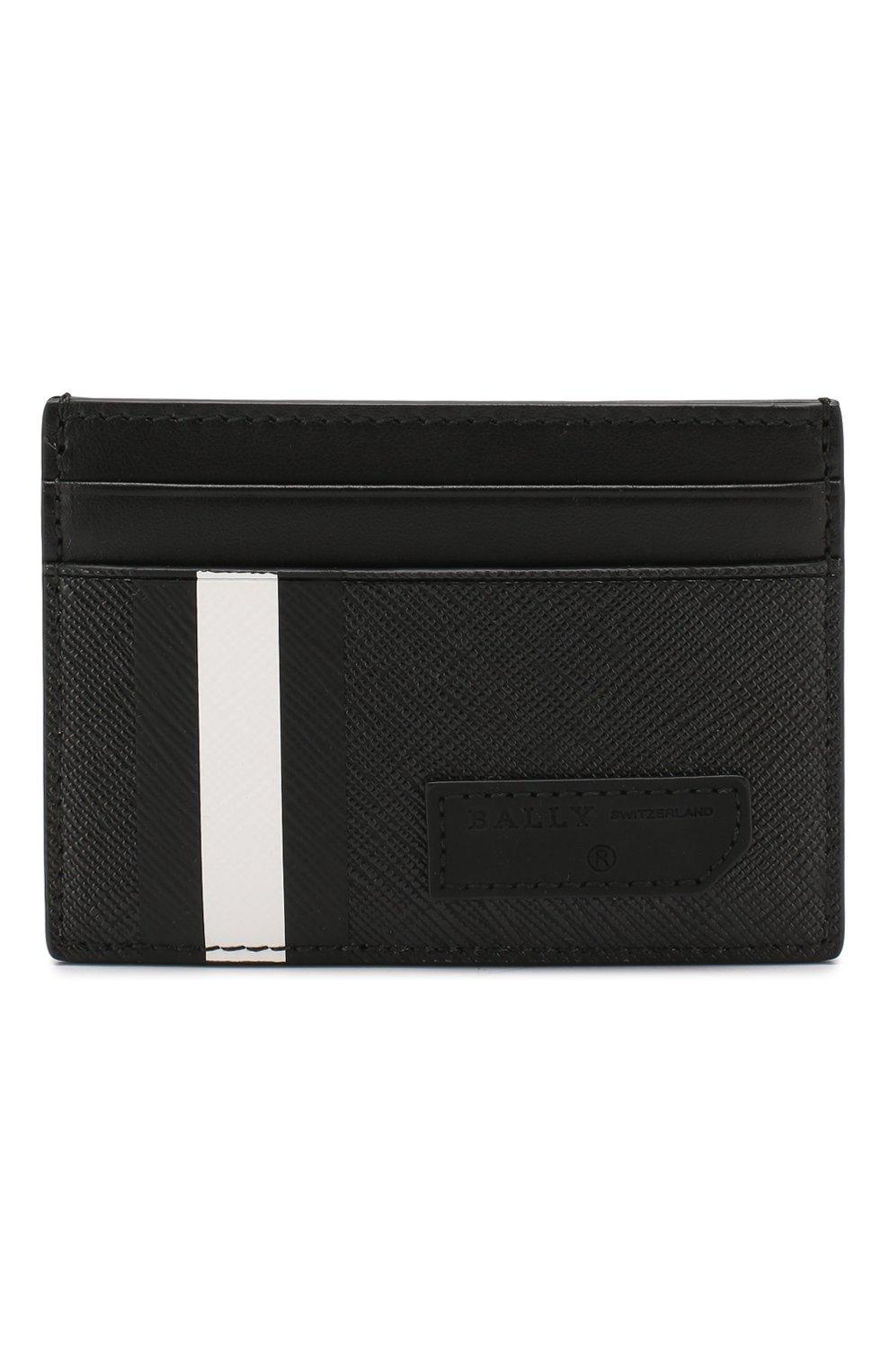 Мужской чехол для кредитных карт BALLY черного цвета, арт. BHAR.0F/30 | Фото 1