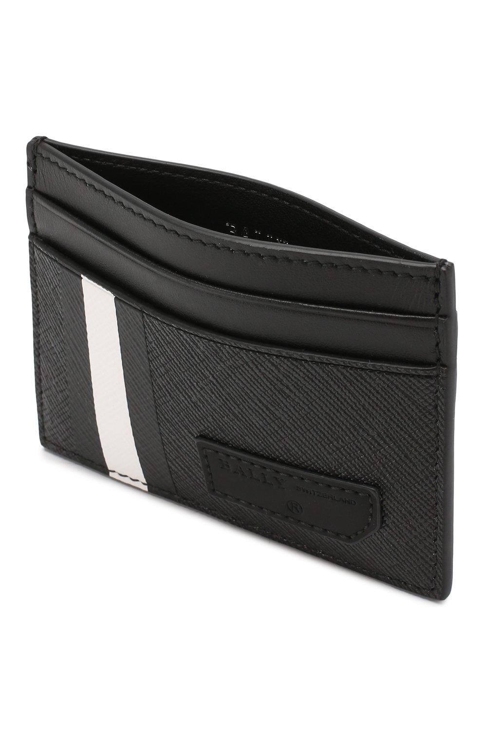 Мужской чехол для кредитных карт BALLY черного цвета, арт. BHAR.0F/30 | Фото 3