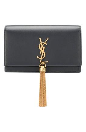 Женская сумка monogram kate small SAINT LAURENT серого цвета, арт. 452159/C150J   Фото 1