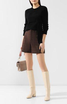 Женские кожаные сапоги virginia SERGIO ROSSI бежевого цвета, арт. A78340-MNAN07 | Фото 2