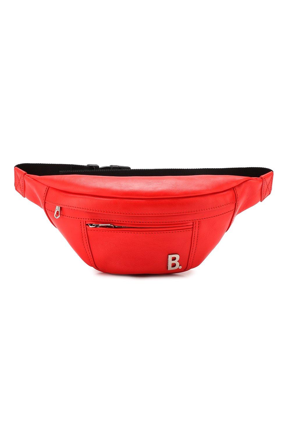 Женская поясная сумка soft xs BALENCIAGA красного цвета, арт. 580028/1EU1N | Фото 1