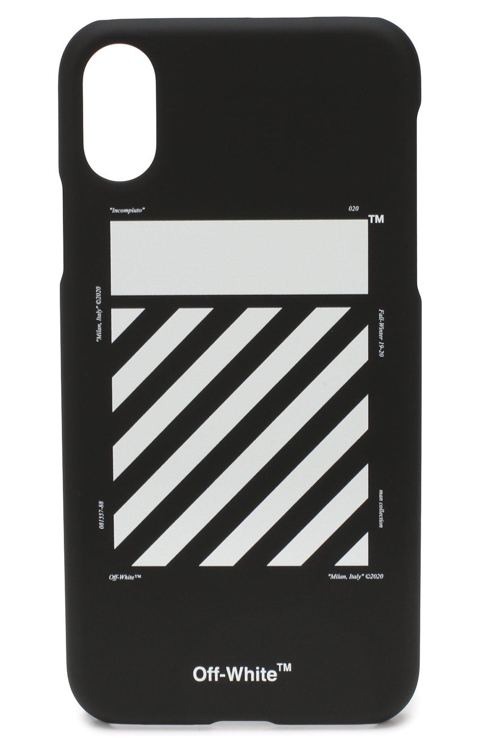 Мужской чехол для iphone x/xs OFF-WHITE черного цвета, арт. 0MPA007E192940281001 | Фото 1