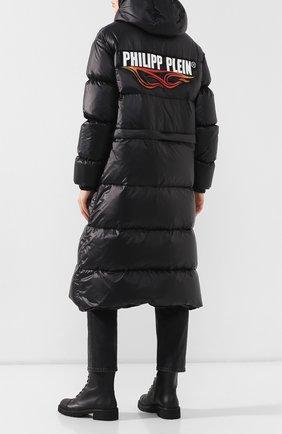 Женский стеганый пуховки PHILIPP PLEIN черного цвета, арт. WRA0298 | Фото 2