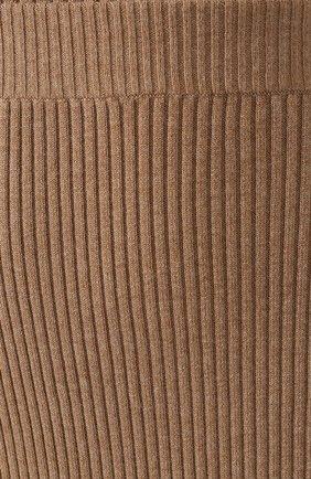 Женская хлопковая юбка BOSS бежевого цвета, арт. 50411641   Фото 5