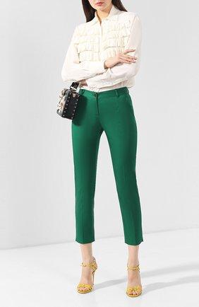 Женские хлопковые брюки DOLCE & GABBANA зеленого цвета, арт. FTAGNT/FUFIS | Фото 2