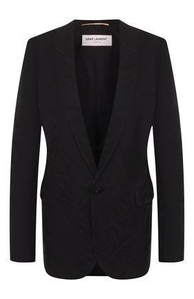 Женский шерстяной жакет SAINT LAURENT черного цвета, арт. 517740/Y516U | Фото 1