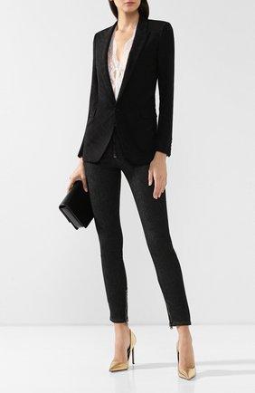Женский шерстяной жакет SAINT LAURENT черного цвета, арт. 517740/Y516U | Фото 2