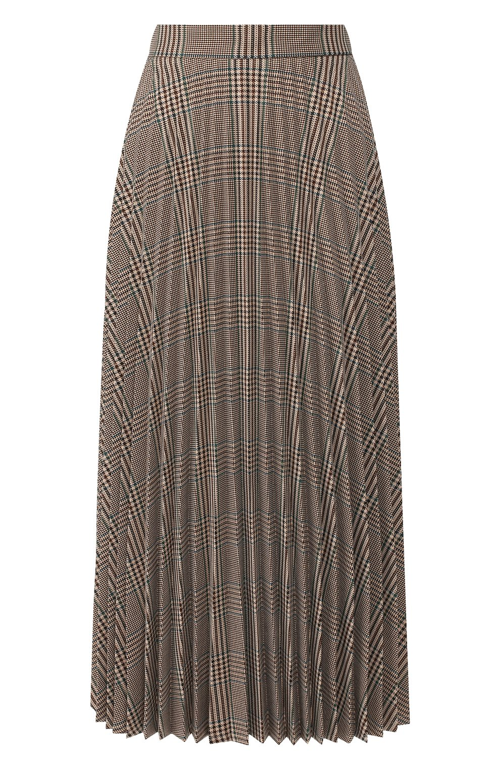 Женская юбка в складку MM6 коричневого цвета, арт. S52MA0055/S49977 | Фото 1