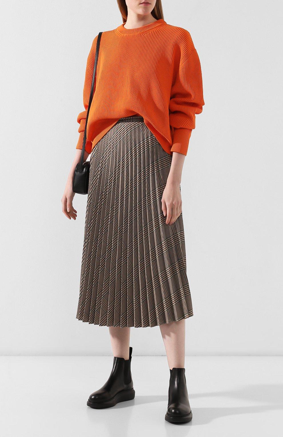 Женская юбка в складку MM6 коричневого цвета, арт. S52MA0055/S49977 | Фото 2