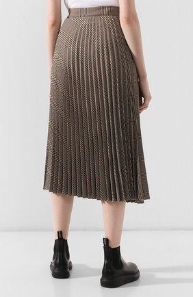 Женская юбка в складку MM6 коричневого цвета, арт. S52MA0055/S49977 | Фото 4