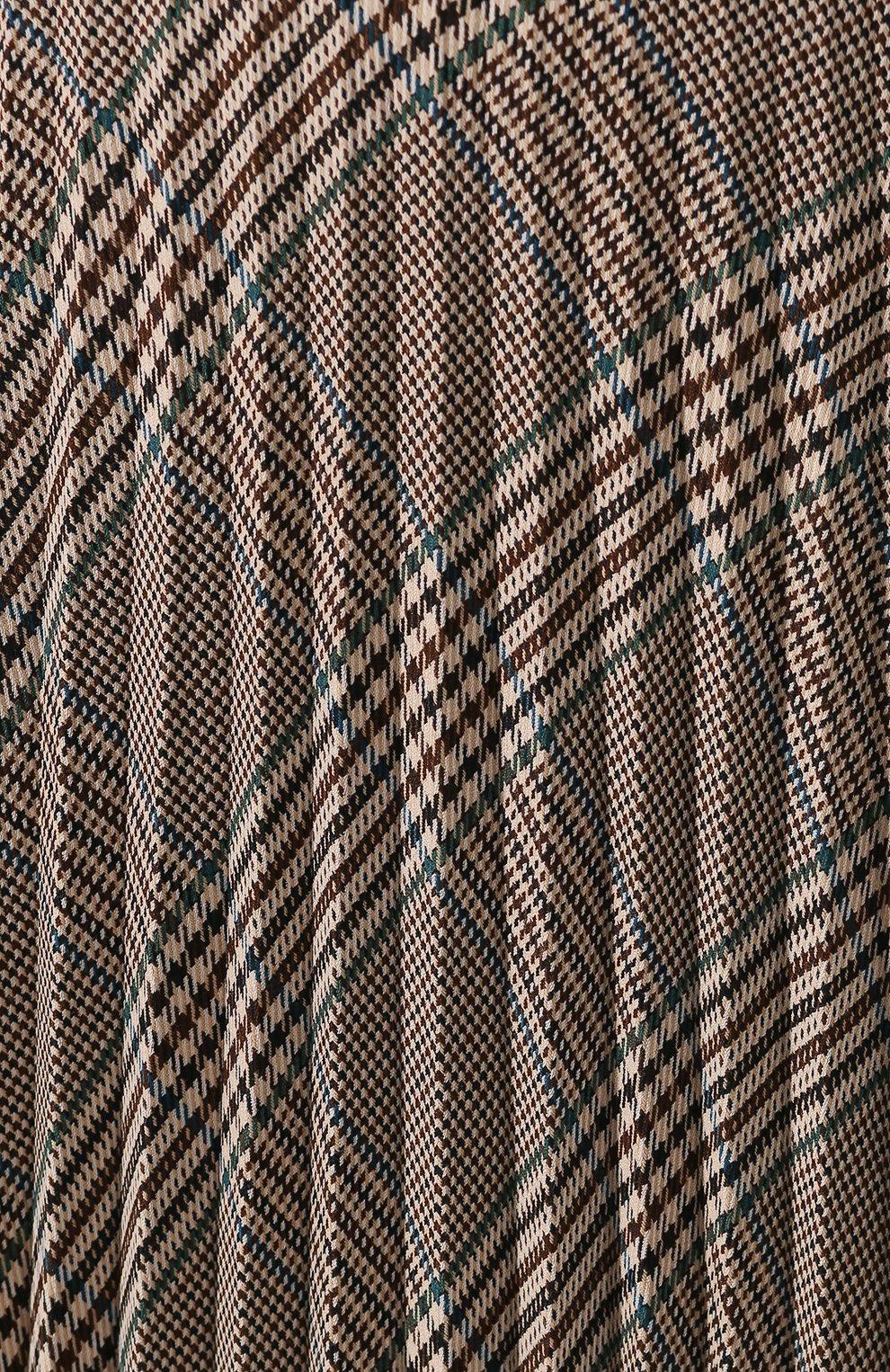 Женская юбка в складку MM6 коричневого цвета, арт. S52MA0055/S49977 | Фото 5