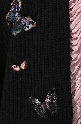 Шерстяная накидка Valentino черная   Фото №5