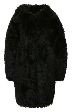 Женская шуба из экомеха BALENCIAGA черного цвета, арт. 583877/TFQ11 | Фото 1