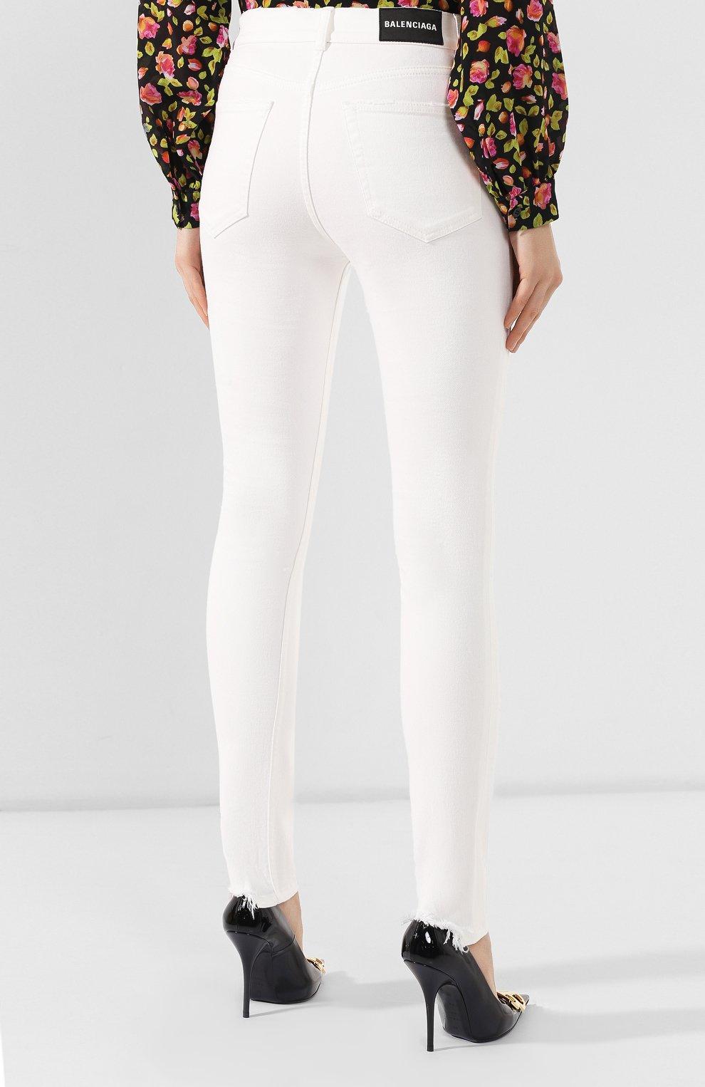 Женские джинсы BALENCIAGA белого цвета, арт. 583459/TFW06 | Фото 4