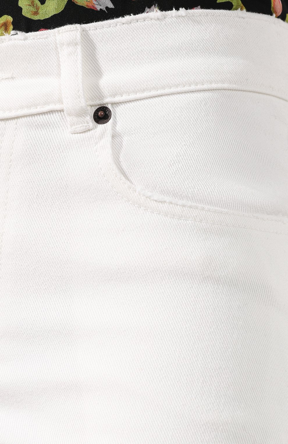 Женские джинсы BALENCIAGA белого цвета, арт. 583459/TFW06 | Фото 5