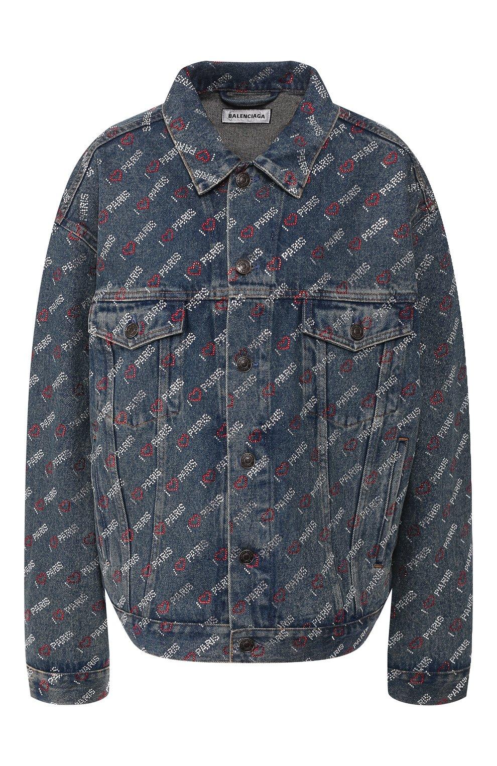 Женская джинсовая куртка BALENCIAGA синего цвета, арт. 583430/TDW15 | Фото 1