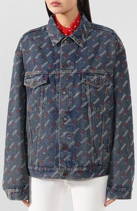 Женская джинсовая куртка BALENCIAGA синего цвета, арт. 583430/TDW15 | Фото 3