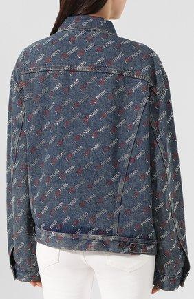 Женская джинсовая куртка BALENCIAGA синего цвета, арт. 583430/TDW15 | Фото 4