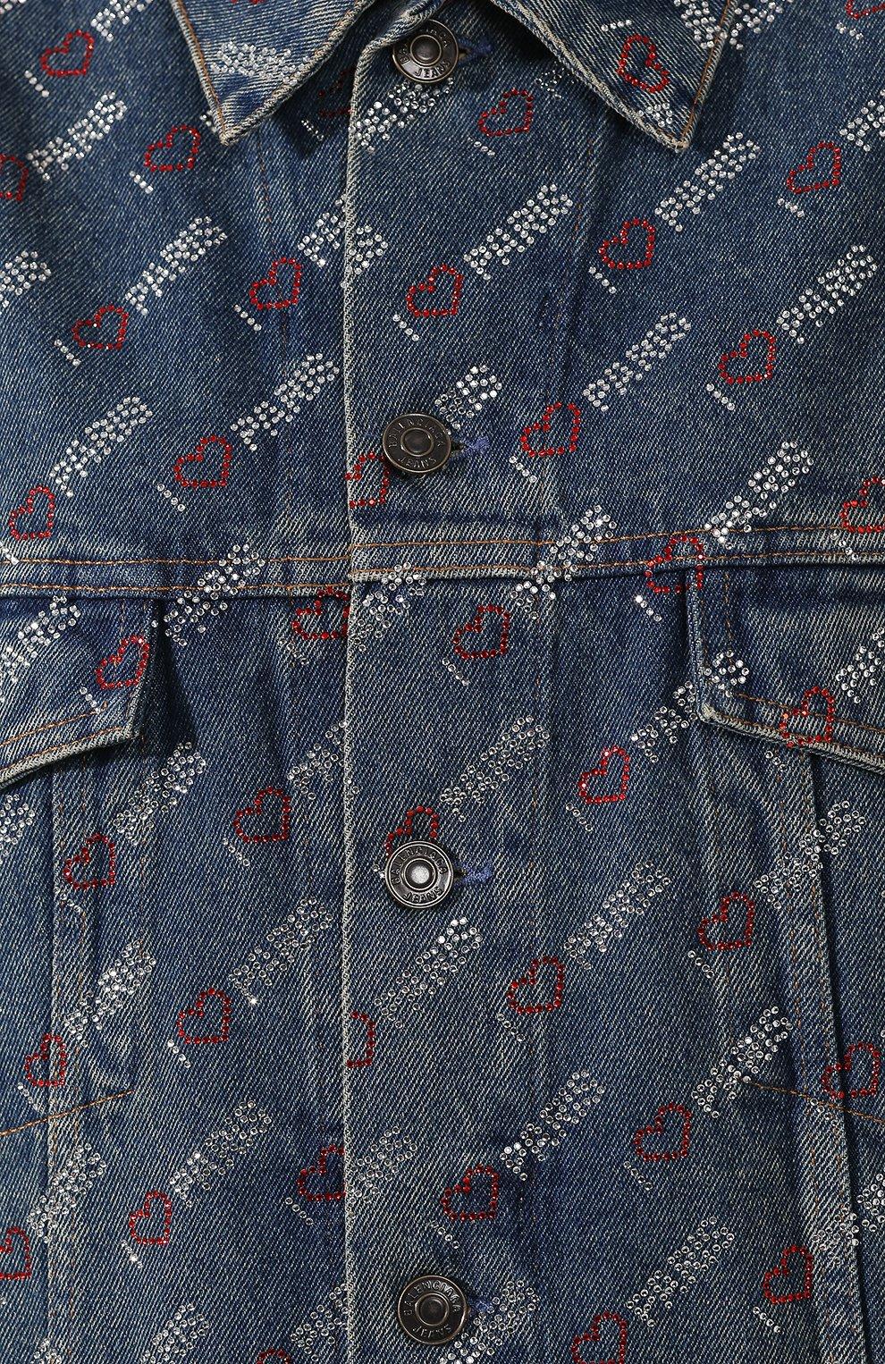 Женская джинсовая куртка BALENCIAGA синего цвета, арт. 583430/TDW15 | Фото 5