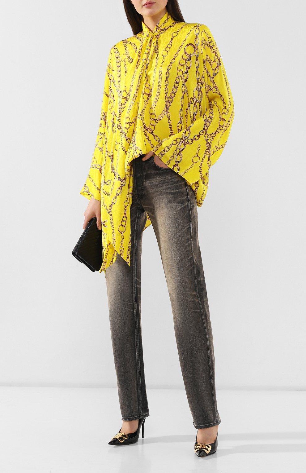 Женские джинсы BALENCIAGA черного цвета, арт. 583243/TEW05 | Фото 2
