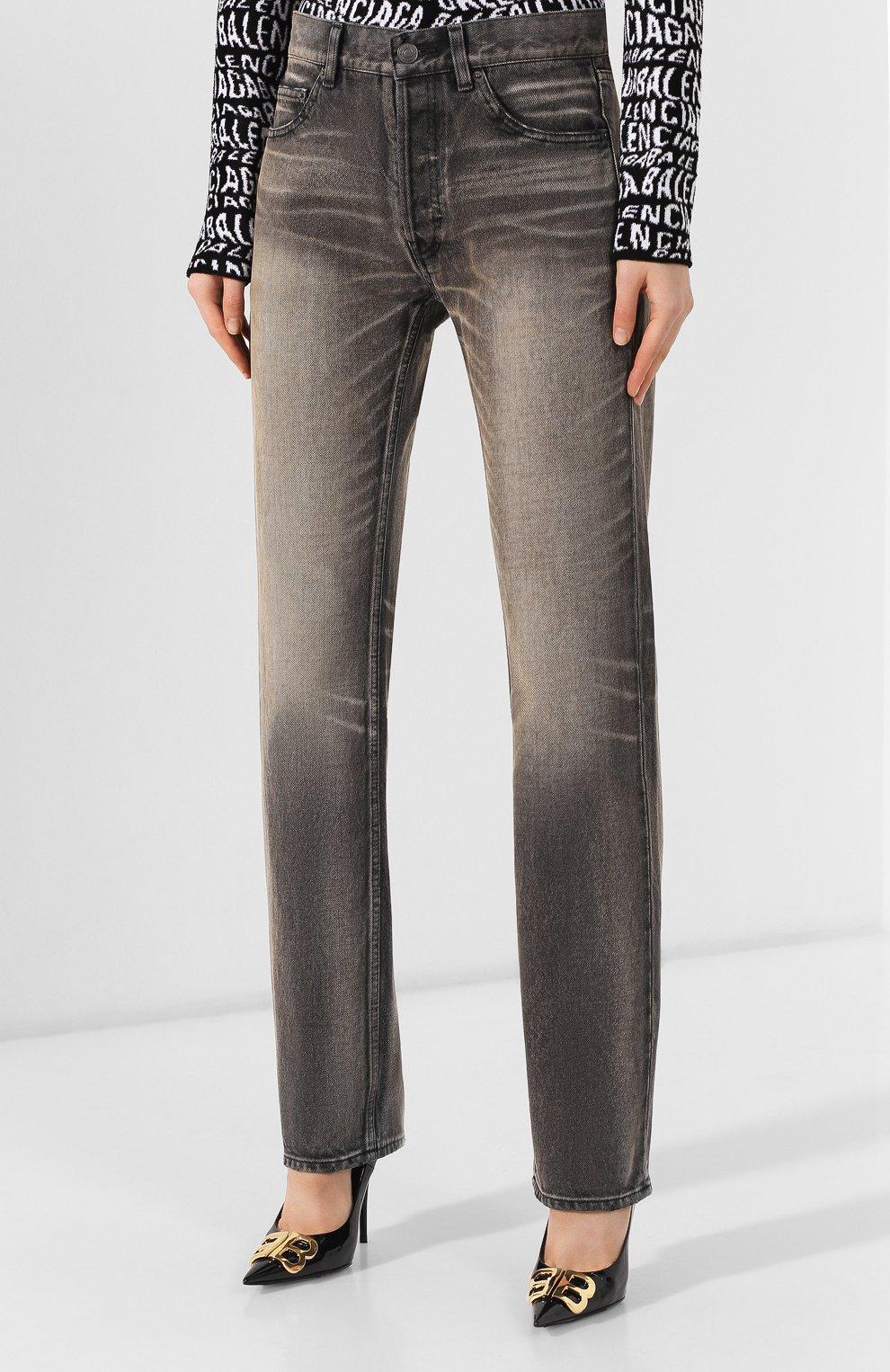 Женские джинсы BALENCIAGA черного цвета, арт. 583243/TEW05 | Фото 3