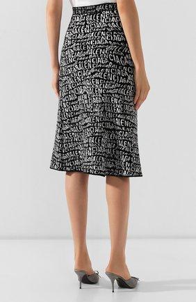 Женская юбка BALENCIAGA черно-белого цвета, арт. 583160/T5122   Фото 4