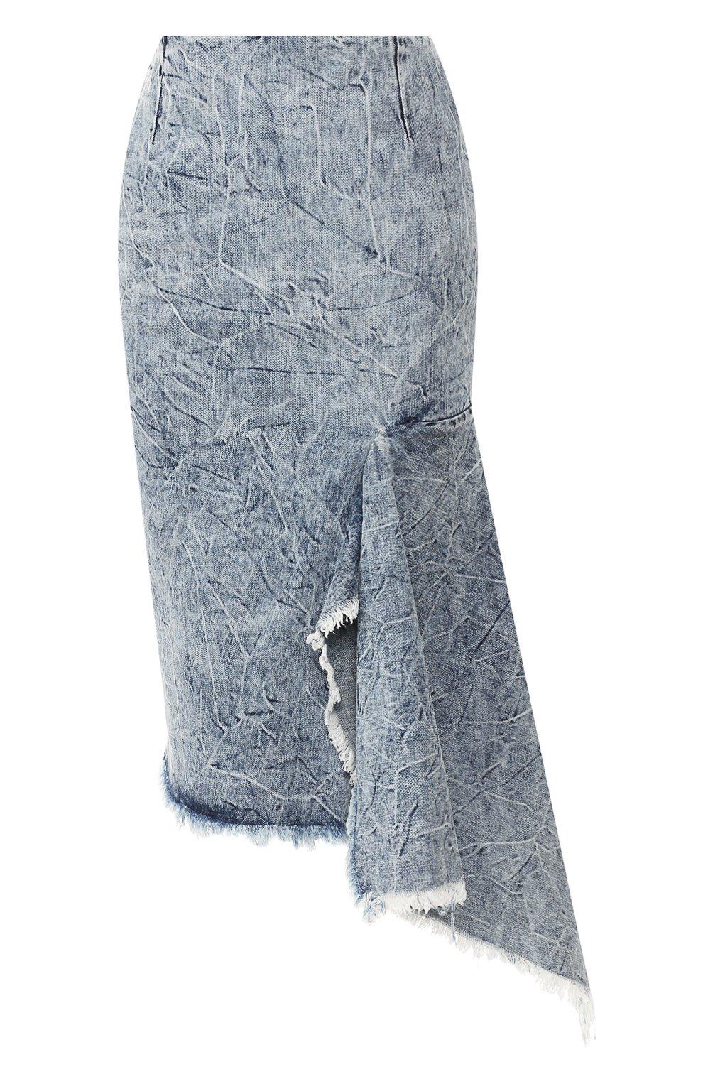 Женская джинсовая юбка BALENCIAGA синего цвета, арт. 571460/TEW36 | Фото 1